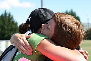 Helen and Marianne hug