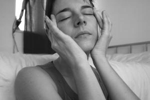Selfportrait_eyes_closed_bw